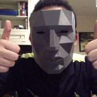 Small Printable Lowpoly mask 3D Printing 16389