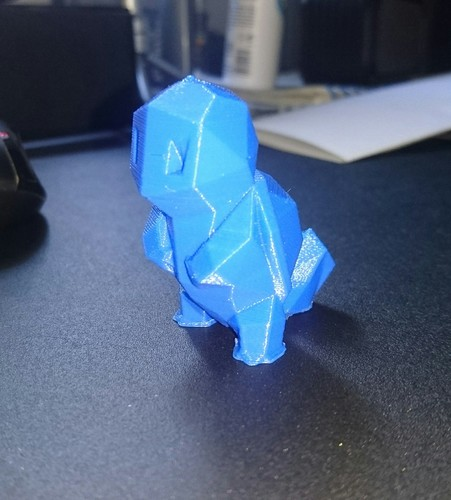 Low-Poly Squirtle - Multi and Dual Extrusion version 3D Print 16400