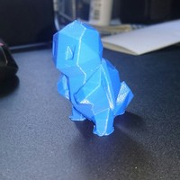 Small Low-Poly Squirtle - Multi and Dual Extrusion version 3D Printing 16400