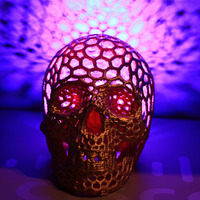 Small Skull lamps - Voronoi Style 3D Printing 16454