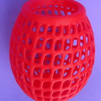 Small Egg Vase Bowl Holder Basket Thing 3D Printing 165