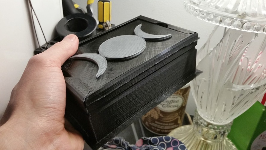 Basic Card Box (5 Lid Designs + Blank) 3D Print 16530