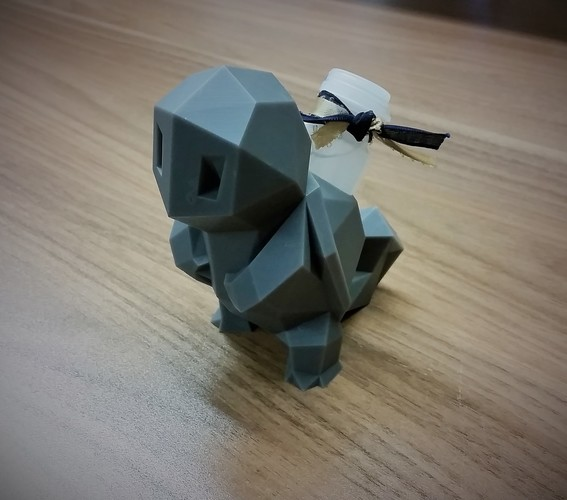 Low-Poly Squirtle - Multi and Dual Extrusion version 3D Print 16575