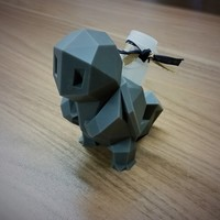 Small Low-Poly Squirtle - Multi and Dual Extrusion version 3D Printing 16575