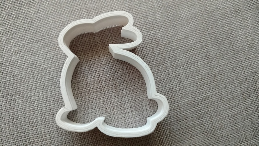 Bunny Cookie Cutter 3D Print 16684