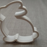Small Bunny Cookie Cutter 3D Printing 16685