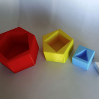 Small Sequential Stackable Geometric Forms 3D Printing 1669