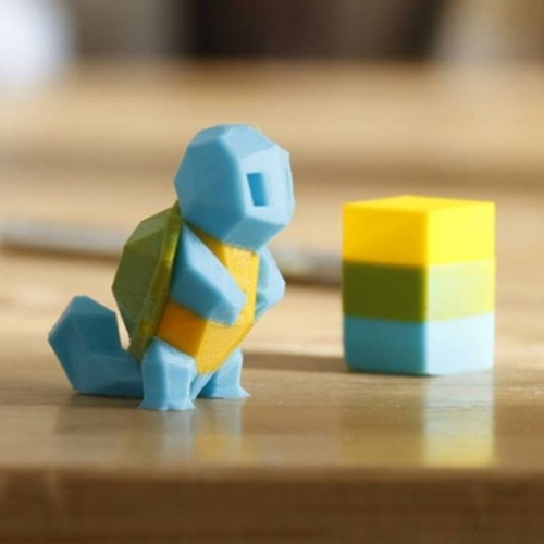 Low-Poly Squirtle - Multi and Dual Extrusion version 3D Print 16797