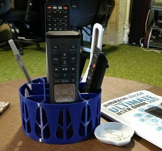 Remote Caddy with Pen/Pencil space 3D Print 16812