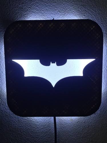 Wall Lamp (LED): Batman 3D Print 1686