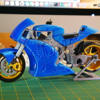 Small 2016 Suzuki GSX-RR MotoGP RC Motorcycle 3D Printing 16956