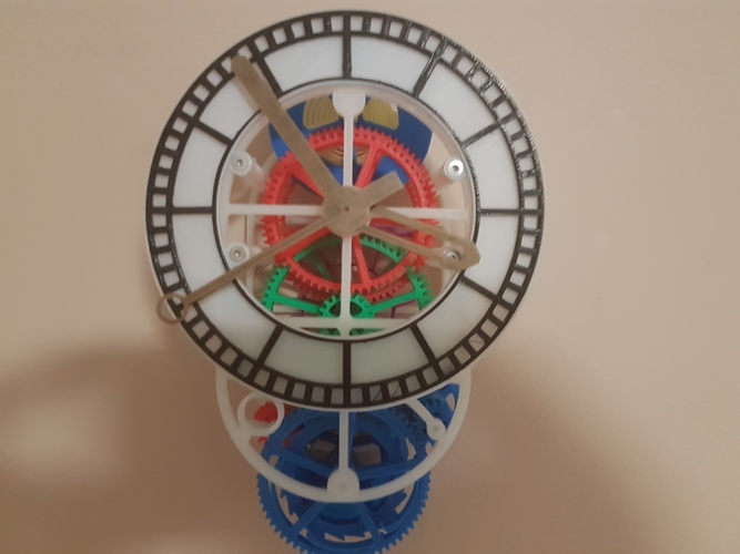 3D printed mechanical Clock with Anchor Escapement 3D Print 17034