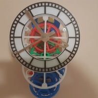 Small 3D printed mechanical Clock with Anchor Escapement 3D Printing 17034