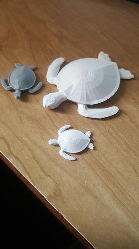 Sea Turtle Keychain 3D Print 17118