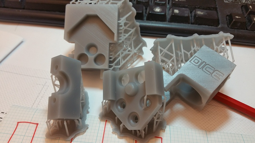 DICE x carriage adapted to OpenBuilds mini v wheel plate 3D Print 17136