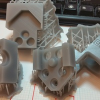 Small DICE x carriage adapted to OpenBuilds mini v wheel plate 3D Printing 17136