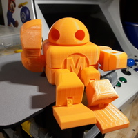 Small BIG Maker Faire Robot Action Figure 3D Printing 17268