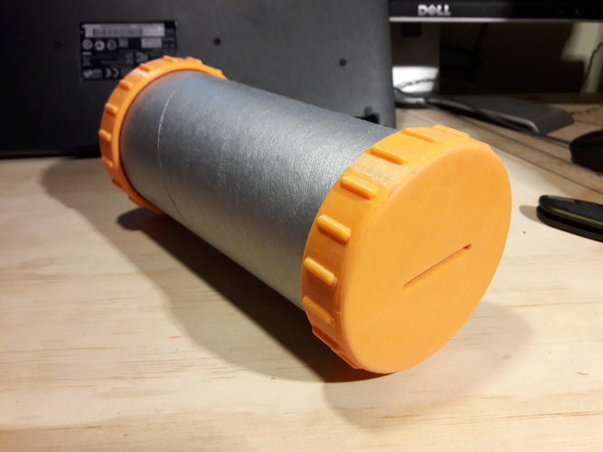 Paper Tube Coin Bank Caps 3D Print 17277