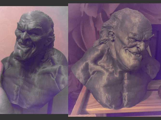 Scary old dude bust ! 3D Print 17515