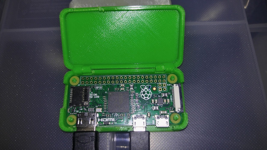 One Piece Raspberry Pi Zero Case 3D Print 17551