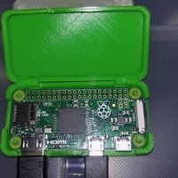 Small One Piece Raspberry Pi Zero Case 3D Printing 17551