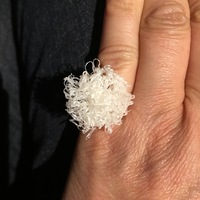 Small 3D printed pompom ring 3D Printing 17599