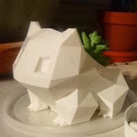 Small Low Poly Bulbasaur Planter 3D Printing 17658