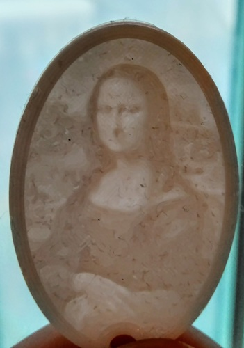 Lithophane Keychain Classic Art Collection 3D Print 17700