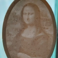 Small Lithophane Keychain Classic Art Collection 3D Printing 17700