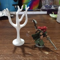Small Tree base For tabletop roleplay 3D Printing 17761