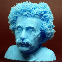 Small Hairy Einstein 3D Printing 17835