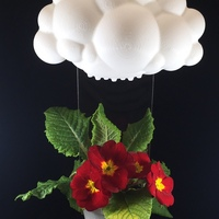 Small Rainy Cloud Planter 3D Printing 17870