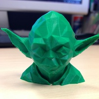 Small Low Poly Yoda 3D Printing 17911