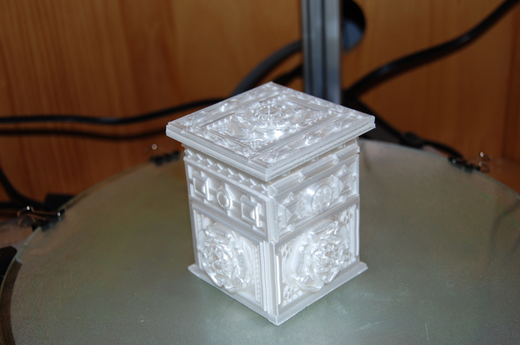 The Tudor Rose Box (with secret lock) 3D Print 17972
