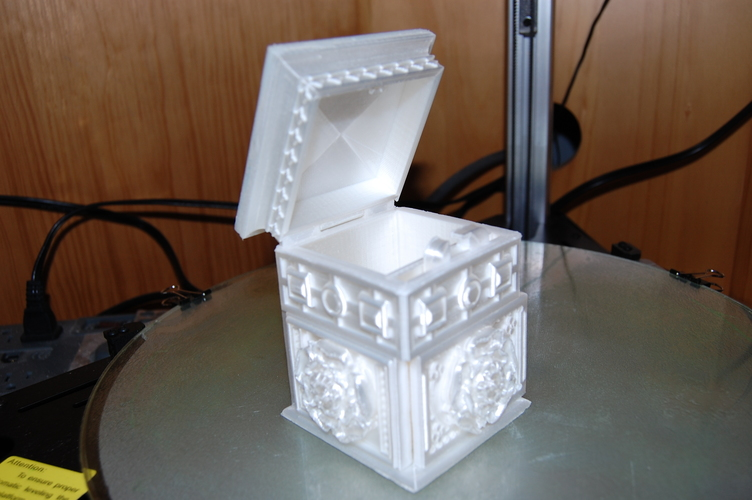 The Tudor Rose Box (with secret lock) 3D Print 17973