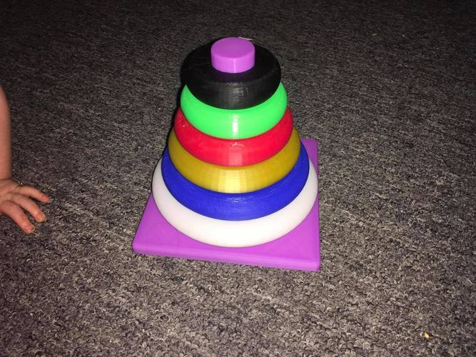 Ring Stacker for Babies 3D Print 17976