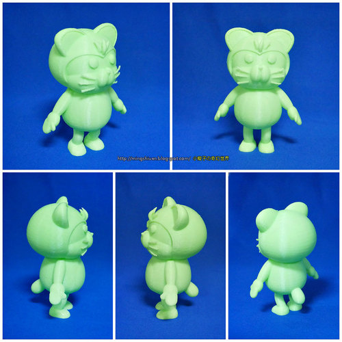3DP Cute animal family 3D Print 17999