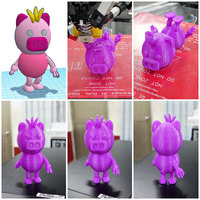Small 3DP Cute animal family 3D Printing 18002
