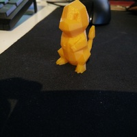 Small Low-Poly Charmander - Multi and Dual Extrusion version 3D Printing 18092
