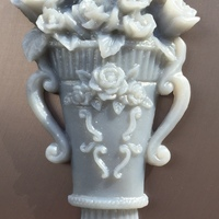 Small Vase with roses 3D Printing 18099