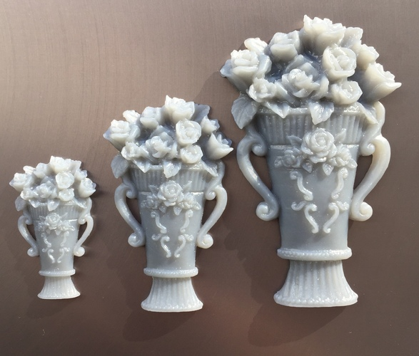 Vase with roses 3D Print 18100