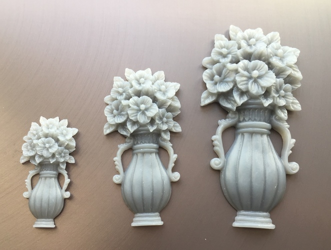 Vase with Flowers 3D Print 18102