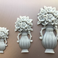 Small Vase with Flowers 3D Printing 18102