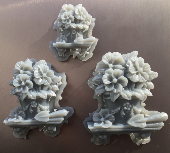 Pot of flowers on a shelf 3D Print 18103