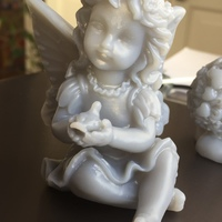 Small Fairy with a dove in his hands 3D Printing 18109