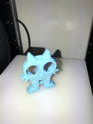 Fat Cat Earbud Holder (Headphone Holder) 3D Print 18123