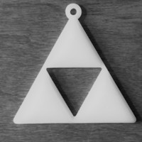 Small Zelda Triforce keyring 3D Printing 18131