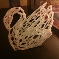 Small Voronoi Experiment No:14 Odile The Swan 3D Printing 18341