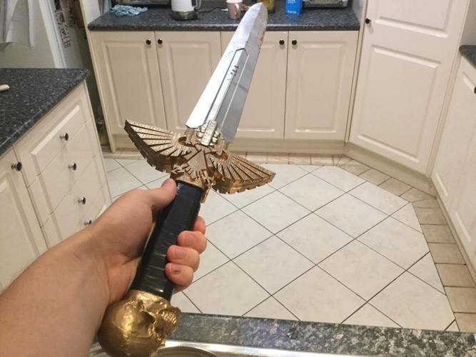 Warhammer 40K - Inquisitor Sword 3D Print 18402