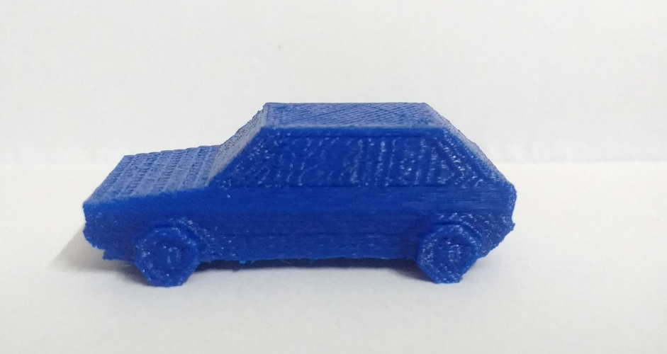 Volkswagen Golf GTI - Low Poly Miniature 3D Print 18522